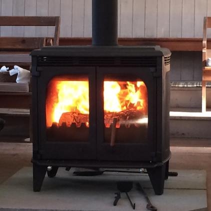 Our recently-updated wood stove.